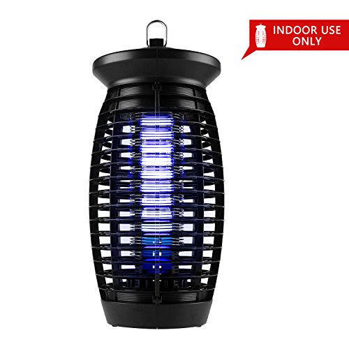 Eastoan Bug Mosquito Zapper - 2018 Upgraded Electronic Insect Killer Fly Killer with 120V UV Light Bulb Lamp - Indoor Bug Zapper Catcher Trap Killer - for Bedroom, Restaurant (Black) by Eastoan