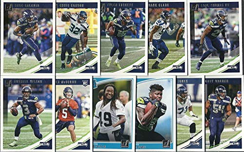 (2016, 2017 & 2018 Panini Donruss Football Seattle Seahawks 3 Team Set Lot Gift Pack 36 Cards W/Rookies)