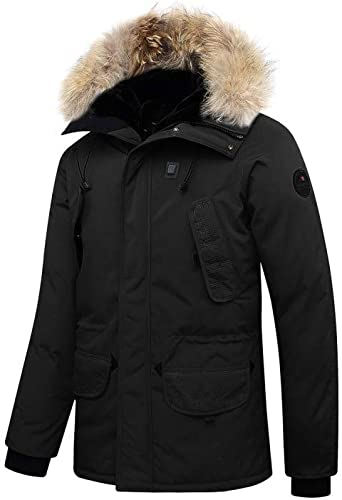 Veste Chauffante Helvetica Expedition Raccoon E.warm Black