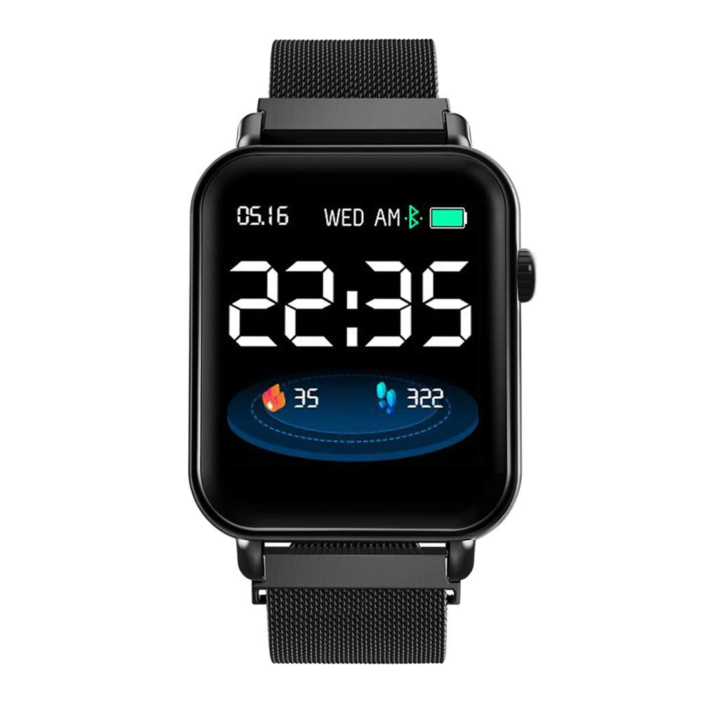 CZYCO Waterproof Bluetooth Smart Watch Heart Rate Monitor Mate Long standby time For Smart Phone(Black) by CZYCO Smart Watch