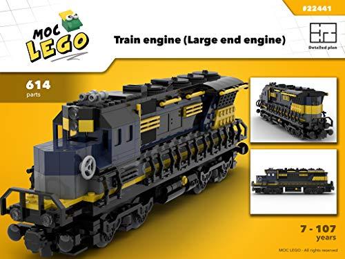 Train Engine Large (Instruction Only): MOC LEGO por Bryan Paquette