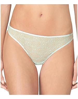 Calvin Klein Women's Crochet Lace Thong Panty (3813) Medium Baltic Sea