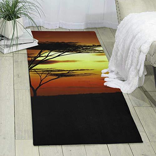 LawDK Kangaroo Sunset Australia Household Carpet Rug Footcloth
