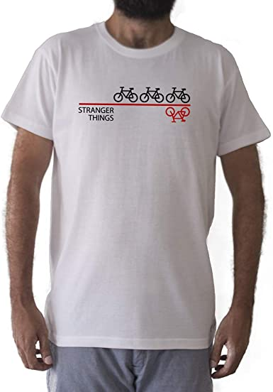 GAMBA TARONJA Stranger Things - Camiseta - Bicicletas - Serie (S ...