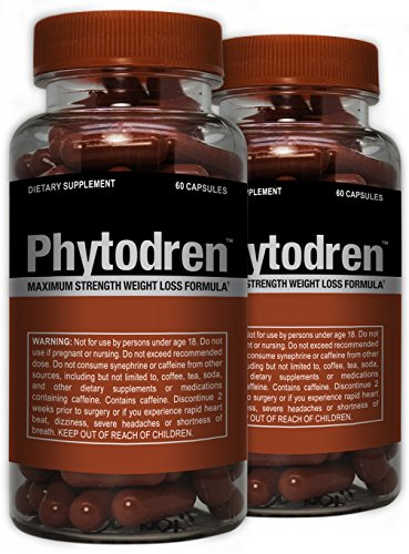 Phytodren 2 Pack - Hardcore Weight Loss - Burn Fat - Boost Energy Levels - Eat Less by Advantage Nutraceuticals