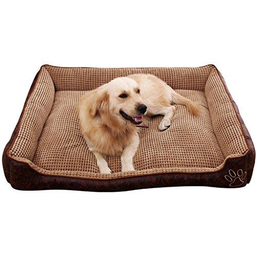 DEI QI Perrera para Mascotas de Verano Lavable, colchones para Perros medianos y Grandes, Balcón para Interiores,...