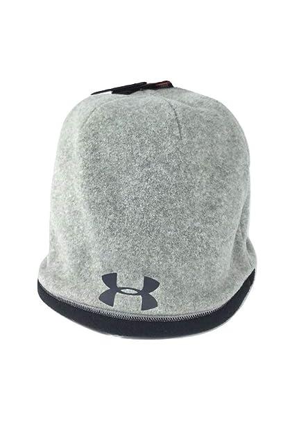 Under Armour Boy s UA ColdGear Infrared Fleece Beanie Gray Black 1263105 e0a0336a85f