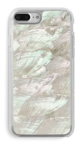 low priced bbd46 a9f5d Recover White Abalone Shell iPhone 8 Plus/iPhone 7 Plus/iPhone 6 Plus Case.  Ultra Slim Protective Iridescent Seashell Cover for iPhone 8/7/6 Plus ...