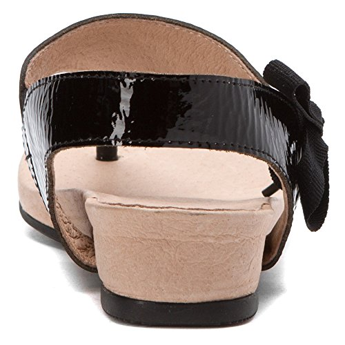 Crowne Comforteur Kvinna Brillianaire Sandaler Black Patent