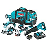 Makita XT610 18V LXT Lithium-Ion Cordless 6-pc. Combo Kit (3.0Ah)