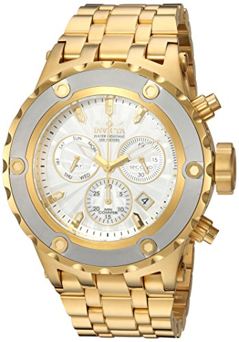 (Invicta Men's Subaqua Quartz Watch with Stainless-Steel Strap, Gold, 26 (Model: 23923))