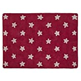 Lorena Canals Stars Fuchsia - Pink Machine Washable Kids Rug Handmade 100% Natural Cotton and Non-Toxic Dyes,Perfect for Nursery, Baby, Playroom or Childrens Rooms