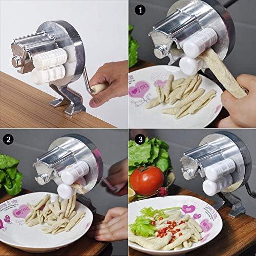 Aramox Nudelpressmaschine aus Aluminiumlegierung Handbuch für die Bedienung von Geräten zur Herstellung von Küchenlebensmitteln Handgefertigte Nudelpressmaschine