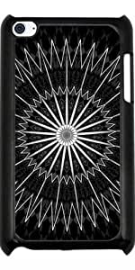 Funda para Ipod Touch 4 - Mandala Plata Negro by Nina Baydur