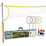 Franklin Sports Volleyball & Badminton Combo Set