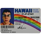 Toys Superbad Prop Hawaii - Drivers Reproduction Novelty com Amazon amp; License Mclovin Games Movie