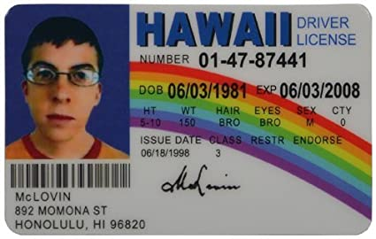 parts Mclovin Fake Amazon com Automotive Model Id Car Accessories License Fun vehicle