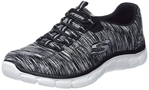 Skechers Women's Relaxed Fit Empire Game On Walking Shoe,Black/White,US 9 M