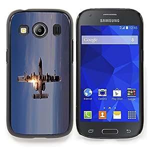 "Qstar Arte & diseño plástico duro Fundas Cover Cubre Hard Case Cover para Samsung Galaxy Ace Style LTE/ G357 (Figther Jet Plane"")"