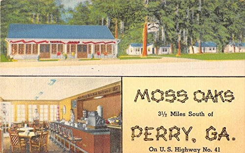 Perry Georgia view of Moss Oaks Lodge cottages linen antique pc Y6926