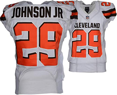 Duke Johnson Jr. Cleveland Browns Game-Used #29 White Jersey vs. Houston Texans on December 2, 2018 - Fanatics Authentic Certified