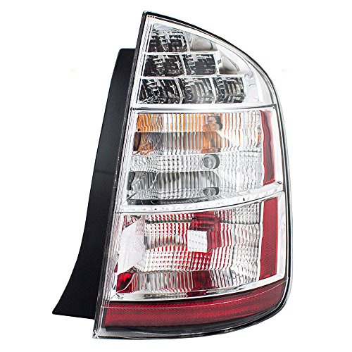 Chrome Tail Light Trim - Passengers Taillight Tail Lamp with Chrome Trim Replacement for Toyota 8155147100 AutoAndArt