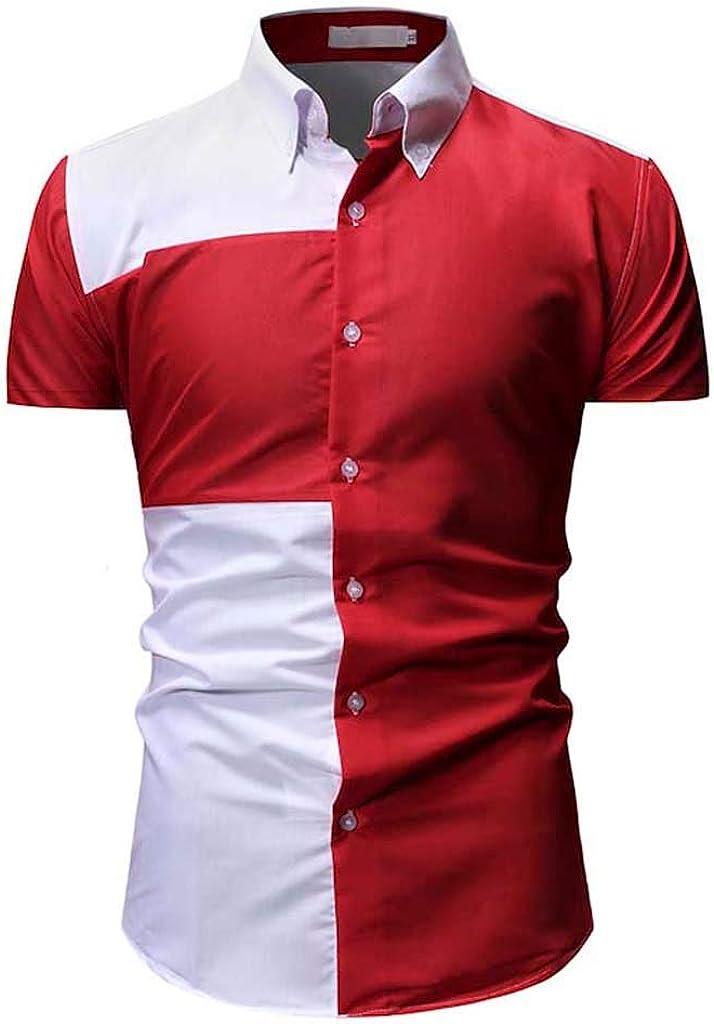 ZODOF Camisa a Cuadros Grande para Hombre Camiseta de Verano ...