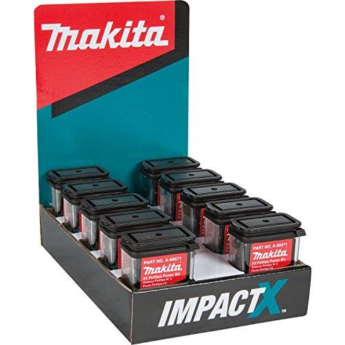 - Makita A-96671-10 Impactx 2 Phillips 2″ Power Bit, 10 x 15 Pack, Display