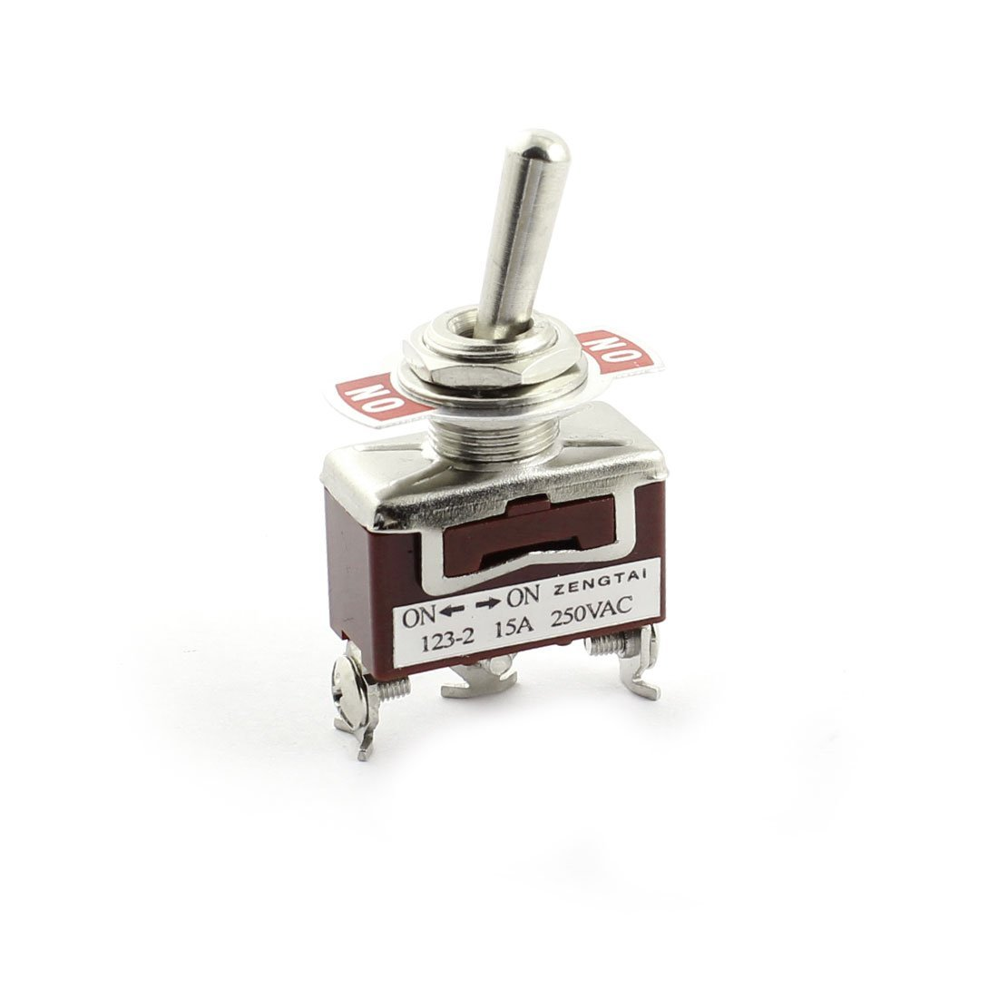 AC 15A 250V Panel Mount 2 Position SPDT ON-ON Momentary Toggle Switch DealMux DLM-B00XBG2LS4