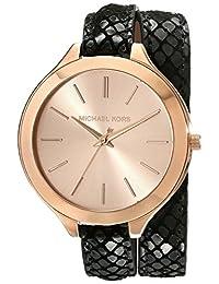 Michael Kors Women's Runway MK2322 Black Leather Quartz Watch