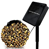 LED String Lights,Solar Christmas Lights 39ft 100 LED 8work Modes Ambiance lighting for Outdoor Patio Lawn Landscape Fairy Garden Home Wedding Holiday waterproof Warm White