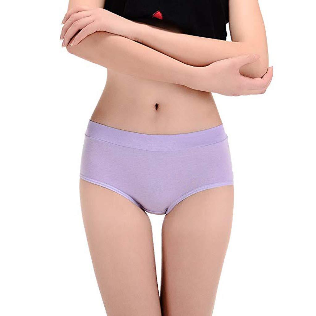 verschiedene Farben Damen-Unterw/äsche Baumwoll-Slip Multipack Damen 8er-Pack Stretch-H/öschen aus Baumwolle