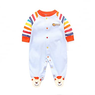 304b15316c5e Amazon.com  Fairy Baby Newborn Baby Boys Girls Footed Pajamas Long ...