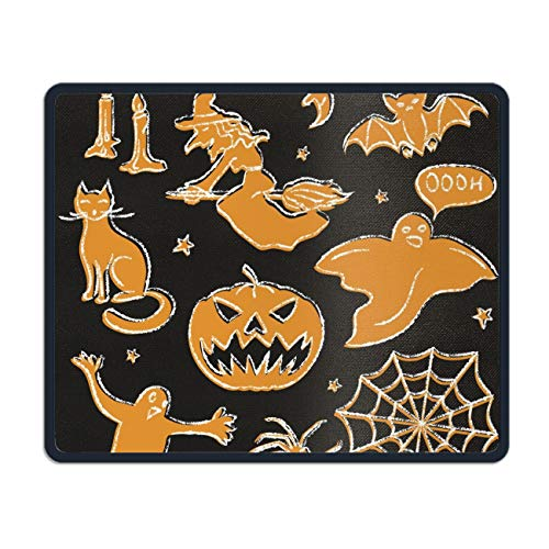 Chalkboard Halloween Non Slip Mouse Pad for Office, Computer, Laptop & Mac Mouse mat 7.08 (L)x 8.66 (W) inch
