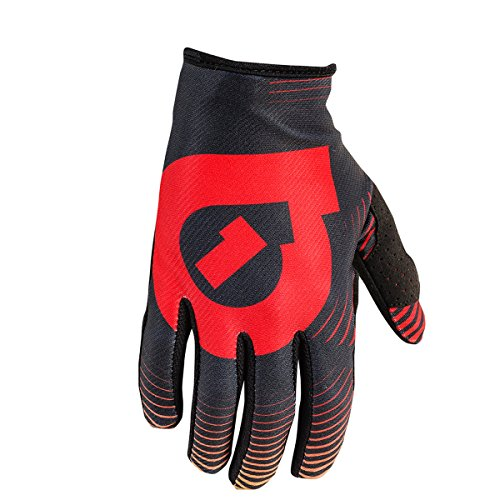 661 SixSixOne Comp Vortex Full Finger Gloves - BLACK/RED - Extra Small (XS) (7) (CLOSEOUT) _7111-34-007