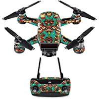 Skin for DJI Spark Mini Drone Combo - Crazy Tikis| MightySkins Protective, Durable, and Unique Vinyl Decal wrap cover | Easy To Apply, Remove, and Change Styles | Made in the USA