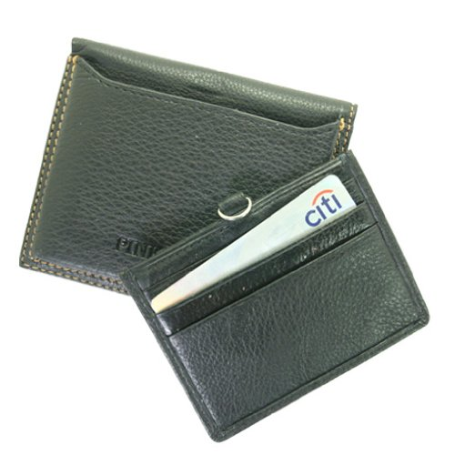 Premium Men's Black Genuine Leather BiFold Wallet with Slide Out Credit Card ID Holder, Bags Central