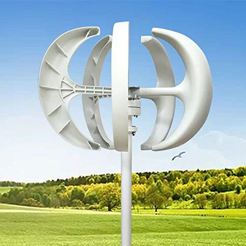 600W 12V Windkraftanlage weiße Laterne vertikale Windkraftanlage 5 Blatt Windkraftanlage + Controller weiße Nylonfaser