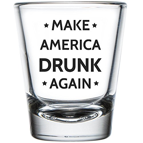 Shop4Ever Make America Drunk Again Shot Glass ~ Trump ~ (Shot, 1.5 oz.)