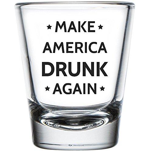 Shop4Ever Make America Drunk Again Shot Glass ~ Trump ~ (Shot, 1.5 (Drunk Glass)