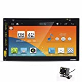 "Celendi 7"" Android 4.4.4 Double Din In Dash Car DVD PC Player GPS Navigation Car Radio Stereo Support SD/USB/AUX-in/Bluetooth/3G/Wifi/1080P/MP3/MP4/GPS/DVR With Free Rear Parking Camera"
