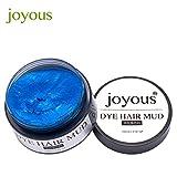 Chartsea Professional Hair Dye DIY Hair Clay Wax Mud Dye Cream Grandma Ash Temporary Hair Dye Men Women Purple White Gold Blue Hot Pink Colors (Blue)