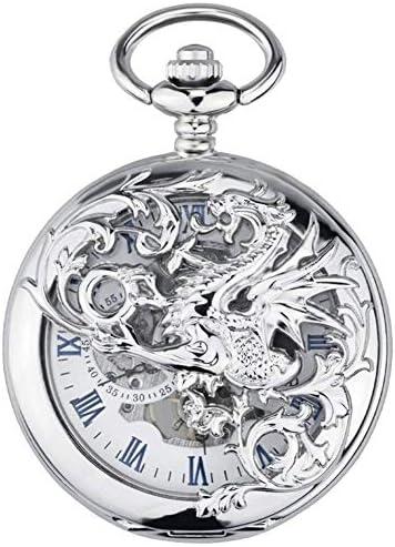 機械式時計、中空フリップTarrasqueユニコーン、クラシックレトロフリップ中空学生ナースウォッチお土産、色名:C (Color : A)