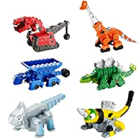 Dinotrux Bundle - Ty Rux, Garby, Ton-Ton, Skya, Revvit y Ace Die-Cast Vehículos [Exclusivo de Amazon]