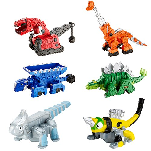 Mattel Dinotrux Bundle – Ty Rux, Garby, Ton-Ton, Skya, Revvit & Ace Die-Cast Vehicles [Amazon Exclusive]
