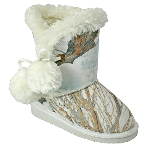 (DAWGS Toddlers' Mossy Oak Side Tie Boots Winter Brush Size 8-9)