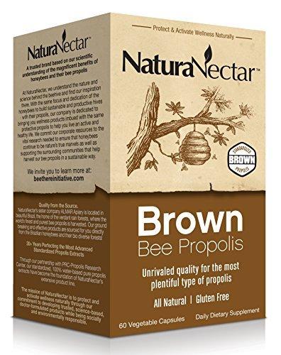 NaturaNectar Brown Bee Propolis, 60 Count by NaturaNectar