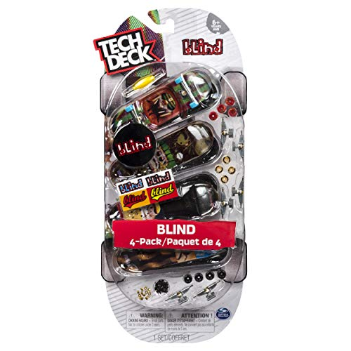 - Tech Deck 4-Pack 96mm Finger Skateboards (Blind)