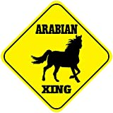 Arabian Crossing Funny Metal Aluminum Novelty Sign