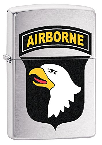 Zippo US Army 101st Airborne Brushed Chrome Pocket Lighter